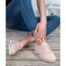 Mazaro różowe Skórzane Ażurowe Półbuty zdjęcie 4