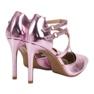 Kylie Błyszczące Szpilki Fashion różowe 1