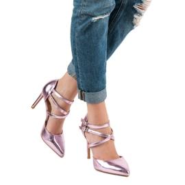 Kylie Błyszczące Szpilki Fashion różowe 5