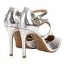 Kylie szare Błyszczące Szpilki Fashion zdjęcie 5