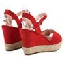 Bello Star czerwone Sandały Espadryle zdjęcie 5