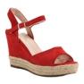 Bello Star czerwone Sandały Espadryle zdjęcie 3