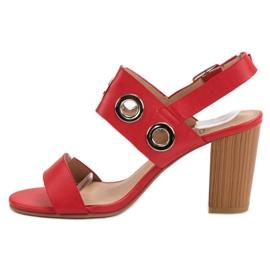 Kylie Czerwone Sandałki Na Obcasie 3