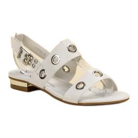 Kylie Casualowe Białe Sandały 3