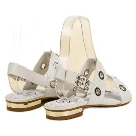 Kylie Casualowe Białe Sandały 5