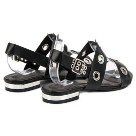 Kylie Casualowe Czarne Sandały 3