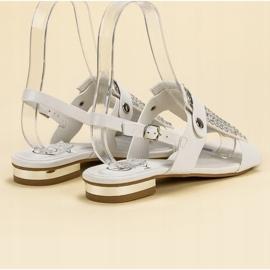 Kylie Białe Sandały Damskie 1