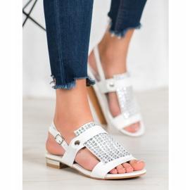 Kylie Białe Sandały Damskie 2