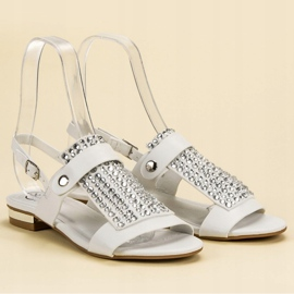 Kylie Białe Sandały Damskie 5