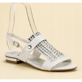 Kylie Białe Sandały Damskie 6