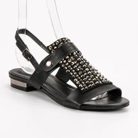 Kylie Czarne Sandały Damskie 2