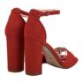 Ideal Shoes czerwone Wygodne Sandałki Na Obcasie zdjęcie 1