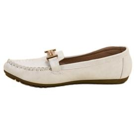 Top Shoes Białe Mokasyny Damskie 4