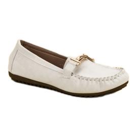 Top Shoes Białe Mokasyny Damskie 3