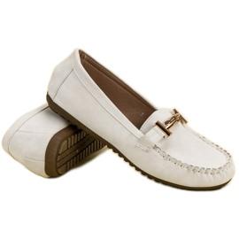 Top Shoes Białe Mokasyny Damskie 5