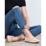 Top Shoes Beżowe Mokasyny Damskie brązowe 4