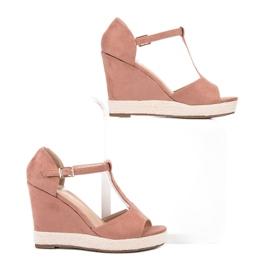 Renda Różowe Sandałki 1