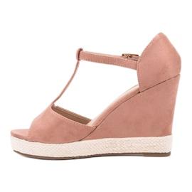 Renda Różowe Sandałki 3