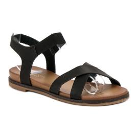 SHELOVET Wsuwane Sandałki czarne 4