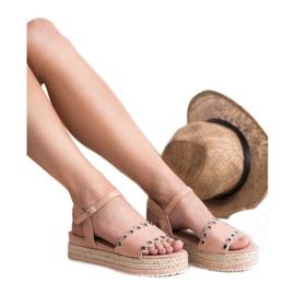 Nio Nio Sandały Na Platformie różowe 4