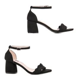 Sandałki Na Słupku VICES czarne 4