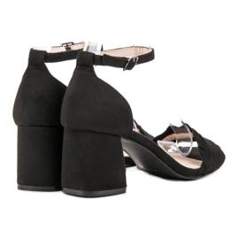 Sandałki Na Słupku VICES czarne 1