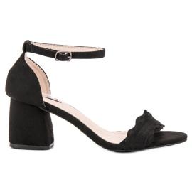 Sandałki Na Słupku VICES czarne 5