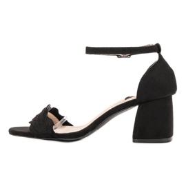 Sandałki Na Słupku VICES czarne 6