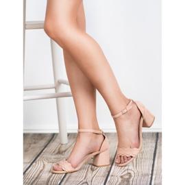 Sandałki Na Słupku VICES różowe 5