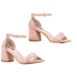 Sandałki Na Słupku VICES różowe 3