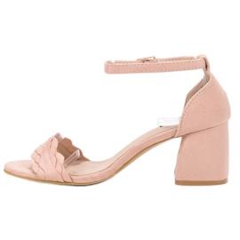 Sandałki Na Słupku VICES różowe 1