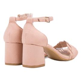 Sandałki Na Słupku VICES różowe 2