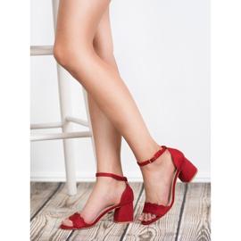 Sandałki Na Słupku VICES czerwone 2