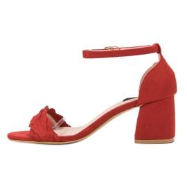 Sandałki Na Słupku VICES czerwone 3