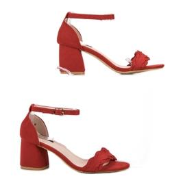Sandałki Na Słupku VICES czerwone 4