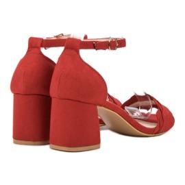 Sandałki Na Słupku VICES czerwone 5