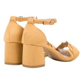 Sandałki Na Słupku VICES żółte 2