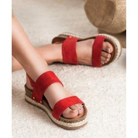 Bestelle Sandałki Z Brokatem czerwone 1