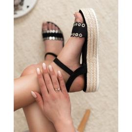 Nio Nio Czarne Sandały Espadryle 3