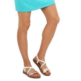 Sandałki damskie białe 2220 White 3
