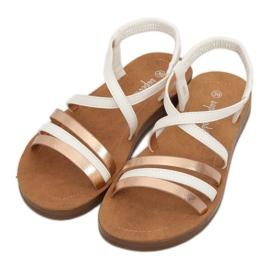Sandałki damskie białe 2220 White 1