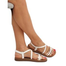 Sandałki damskie białe 2220 White 2
