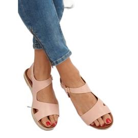 Sandałki damskie różowe H-7 Pink 3