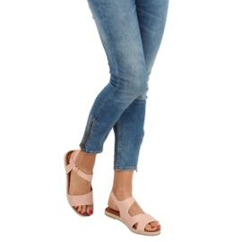 Sandałki damskie różowe H-7 Pink 1
