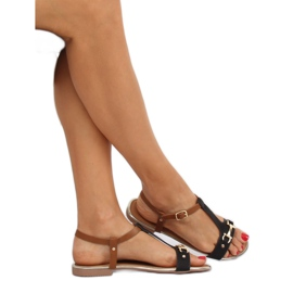 Sandałki damskie czarne 127-97 Black 3
