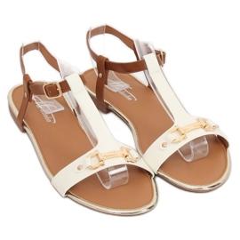 Sandałki damskie białe 127-97 White 2