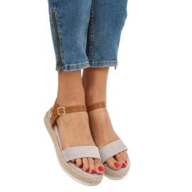 Sandałki espadryle szare Y-8224 Grey 1