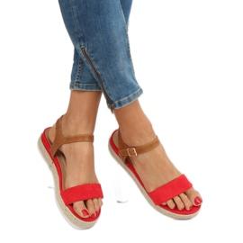 Sandałki espadryle czerwone Y-8224 Red 3
