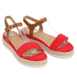 Sandałki espadryle czerwone Y-8224 Red 2