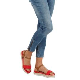 Sandałki espadryle czerwone Y-8224 Red 1